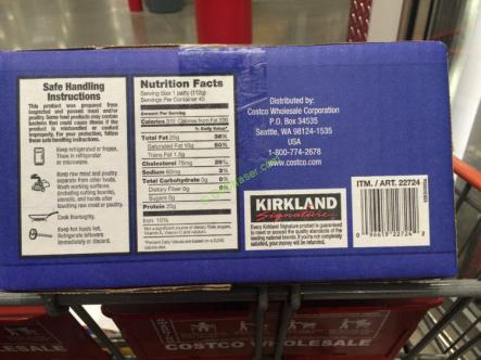 Kirkland Signature Ground Beef Patties 10 Pound Box