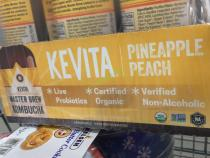 Costco-974578-Kevita Kombucha Organic Pineapple Peach-name