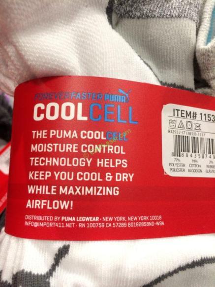 Costco-1153812-Puma-Ladies'-No Show-Socks-spec