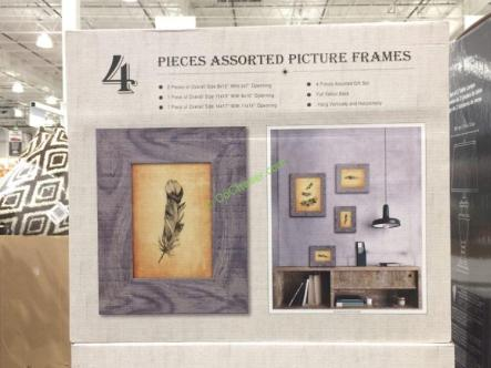 Costco-1178268- Photo-Frames-4PK-Assorted-Sized