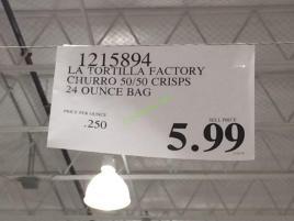 Costco-1215894-LA-Tortilla-Factoty-Churro-5050-Crisps-tag