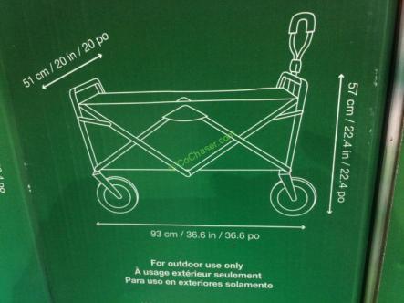 Costco-1650050-Tofasco-Foldable-Wagon-size