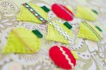 Handmade felt Christmas ornaments