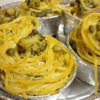 Como hacer Muffins de....spaghetti! Qué