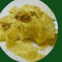 Tagliatelle con salsa de Nueces