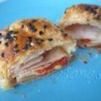 Elegante aperitivo: Mini-Strudel rellenos de Queso, Pimientos, Berenjenas y Jamón