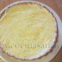 La base de la Tarta de Fruta con Crema Pastelera