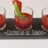 Gazpacho de Sandía : Receta & Vídeo con todos los pasos