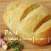 Pan con ralladura de Limón, Ajo asado y Romero