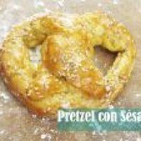 Pretzels de Sésamo: Video con Receta paso a paso