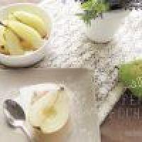 Peras pochadas en Miel - receta