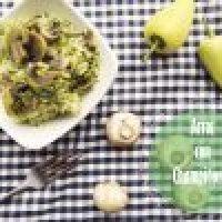Arroz con champiñones y chile amarillo