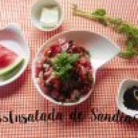 Ensalada Fresca de Sandía con Hierbabuena y Queso Fresco