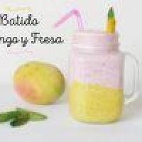 Batido de Fresa, Mango y Hierbabuena