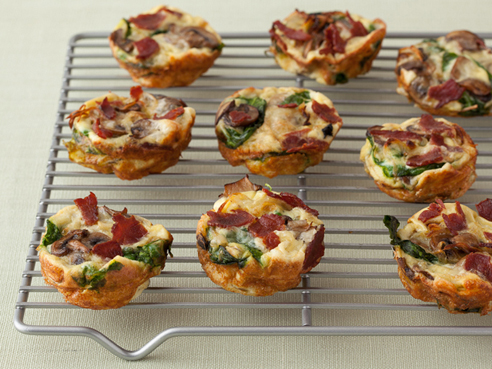 Mini quiches con base de pan