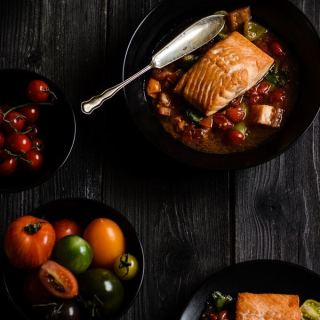 salmon sauce vierge. http://www.cocklesandmussels.com/