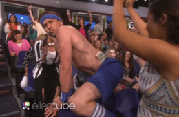 Ellen Orders Sexy Strippers For March Madness Dance Off [Video]