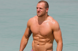 MAN CANDY: Rugby Player James Haskell (And His Bulge) Hit The Beach
