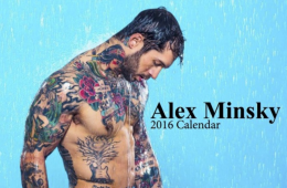 MAN CANDY: Alex Minsky Gets Colourful, Creative And Naked (Obviously) For Calendar 2016