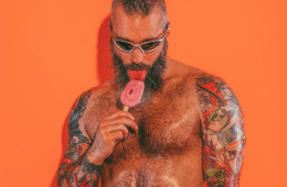 MAN CANDY: Inked & Furry Daddy Turns up the Heat in Sticky 'Ice Cream Summer' Shoot [NSFW-ish]
