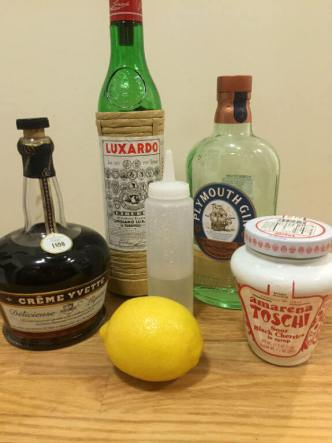 Aviation Cocktail Ingredients