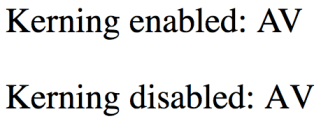 Kerning in Browser
