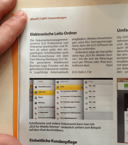 ELO APP at CeBIT