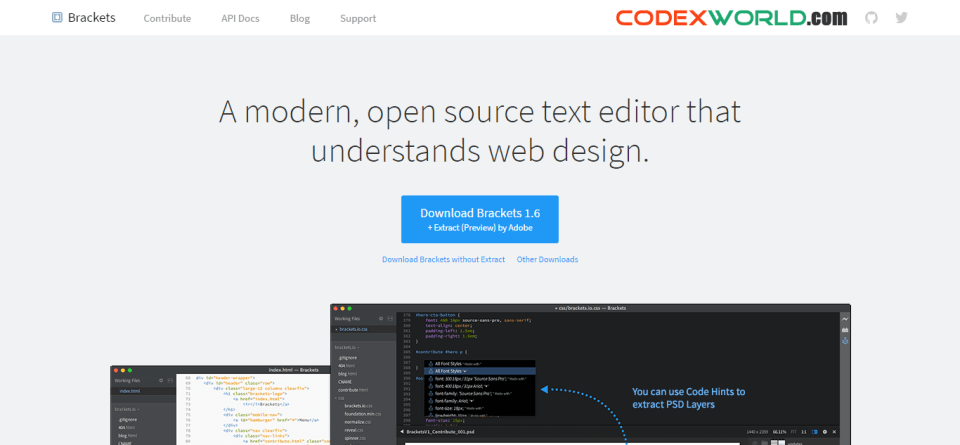 brackets-text-editor-by-codexworld
