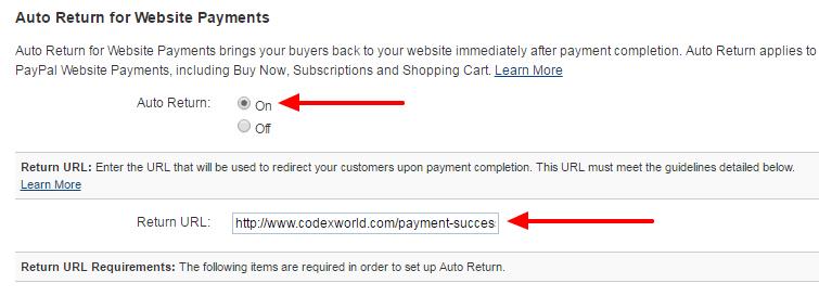 configure-paypal-business-account-auto-return-url-on-codexworld