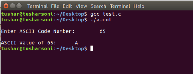 Find and Convert ASCII Values in C Programming for any Character