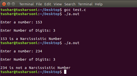 C Program To Check Narcissistic Number