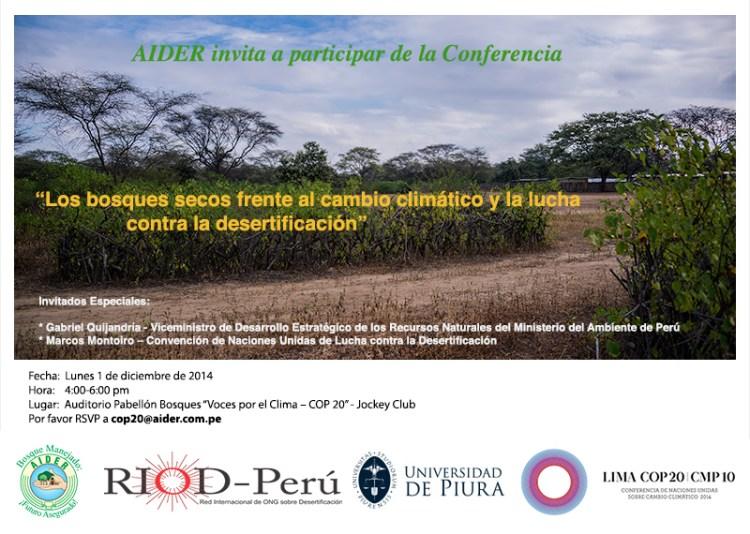 conferencia los bosques secos frente a cambio climatico