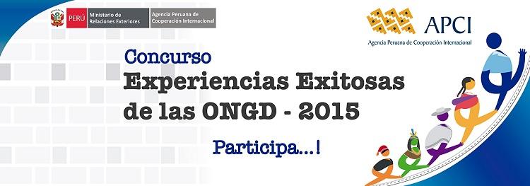 Concurso Experiencias Exitosas de las ONGD - 2015 - apci - COEECI