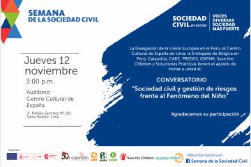 Invitacion Conversatorio 4_ Sociedad civil y gestión de riesgos frente al Fenómeno del Niño