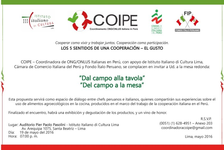 Del Campo a la Mesa_Evento COIPE_19mayo2016