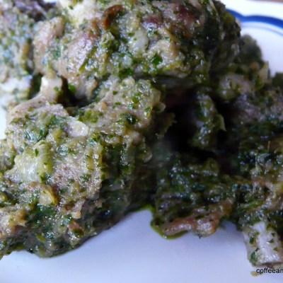 Green Masala Meat~Hare Masala Gosht