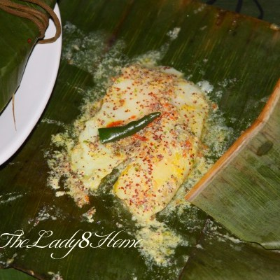 Sorshe Macher Paturi ~ Bengali Fish in Banana Leaf