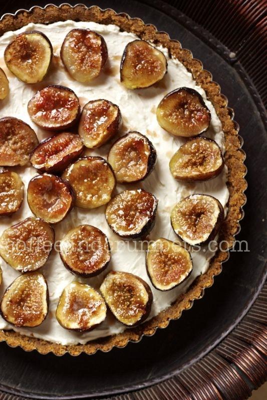 Fig Tart5 Cheesecake Tart with Caramelised Figs