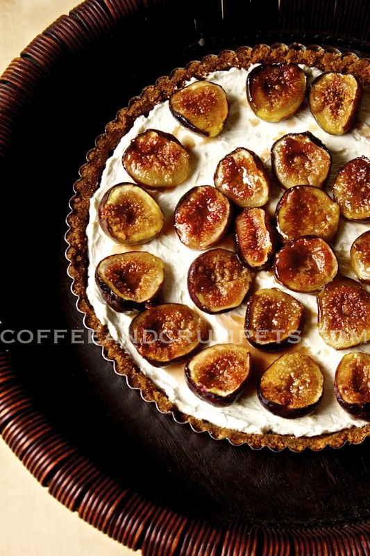 Fig Tartcc Cheesecake Tart with Caramelised Figs