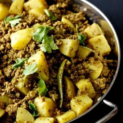 Kheema Aloo | Ground Meat and Potato Curry