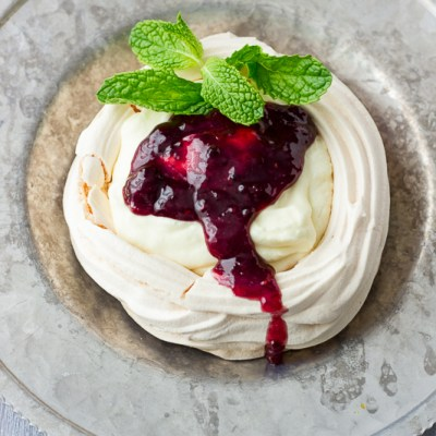 White Chocolate Mousse Meringues