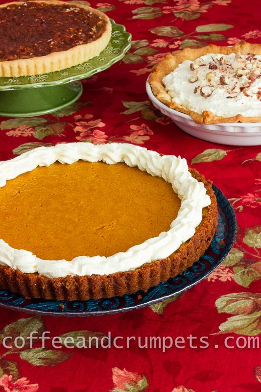 creamy, light pumpkin mascarpone cheesecake tart with a holiday ...