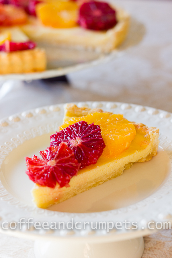 Blood Orange and Ricotta Tart-3