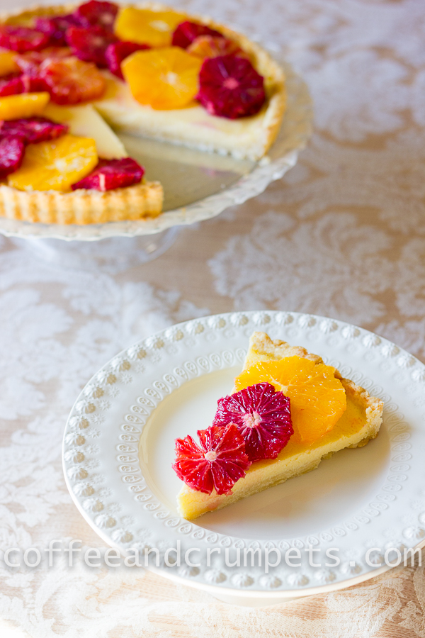 Blood Orange and Ricotta Tart-4