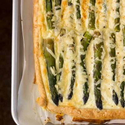 Asparagus and Emmentaler Tart