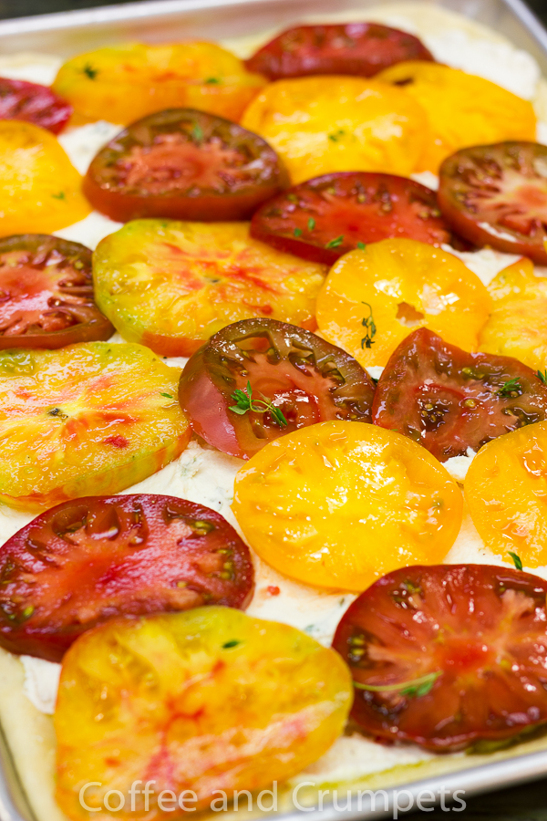 Heirloom Tomato Pizza - Coffee and Crumpets