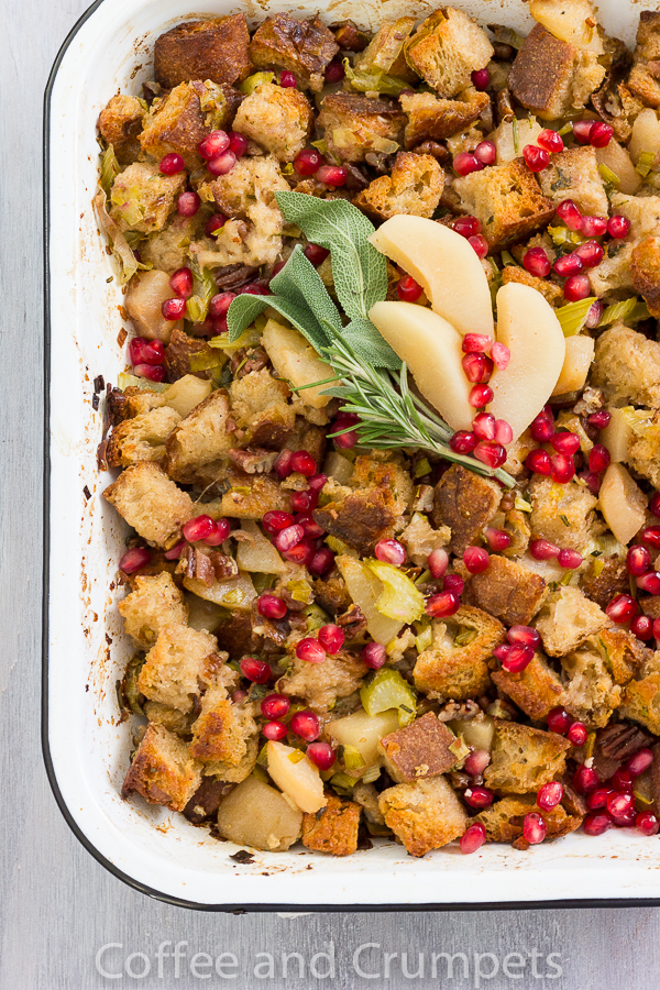 Pear and Pomegranate Stuffing-3