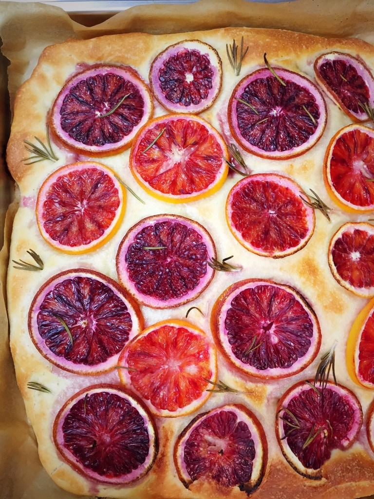 Blood Orange Focaccia