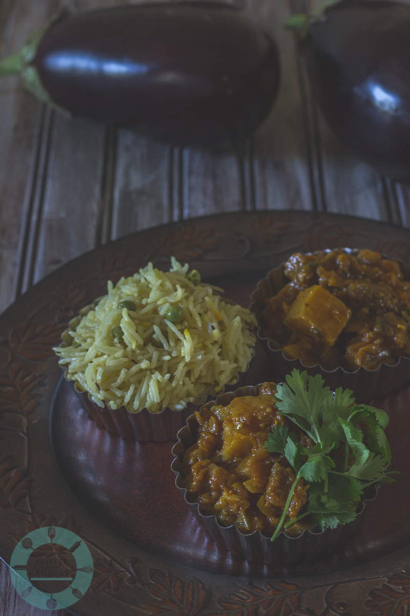 Eggplant and Potato Curry | Baigan Aloo-3