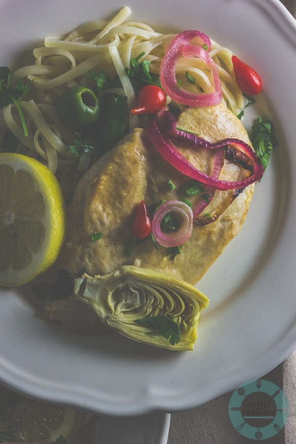 Chicken Limone with Artichokes and Olives